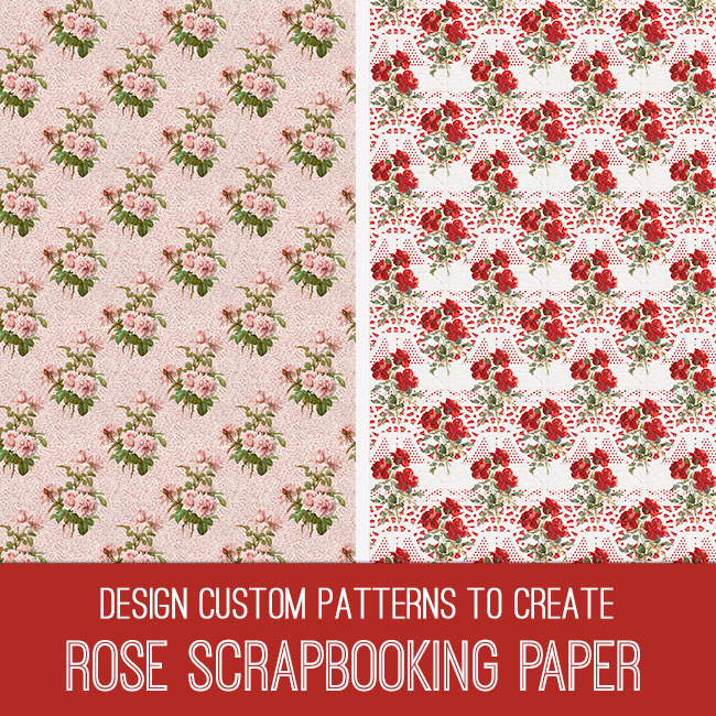 pse tutorial rose scrapbooking paper