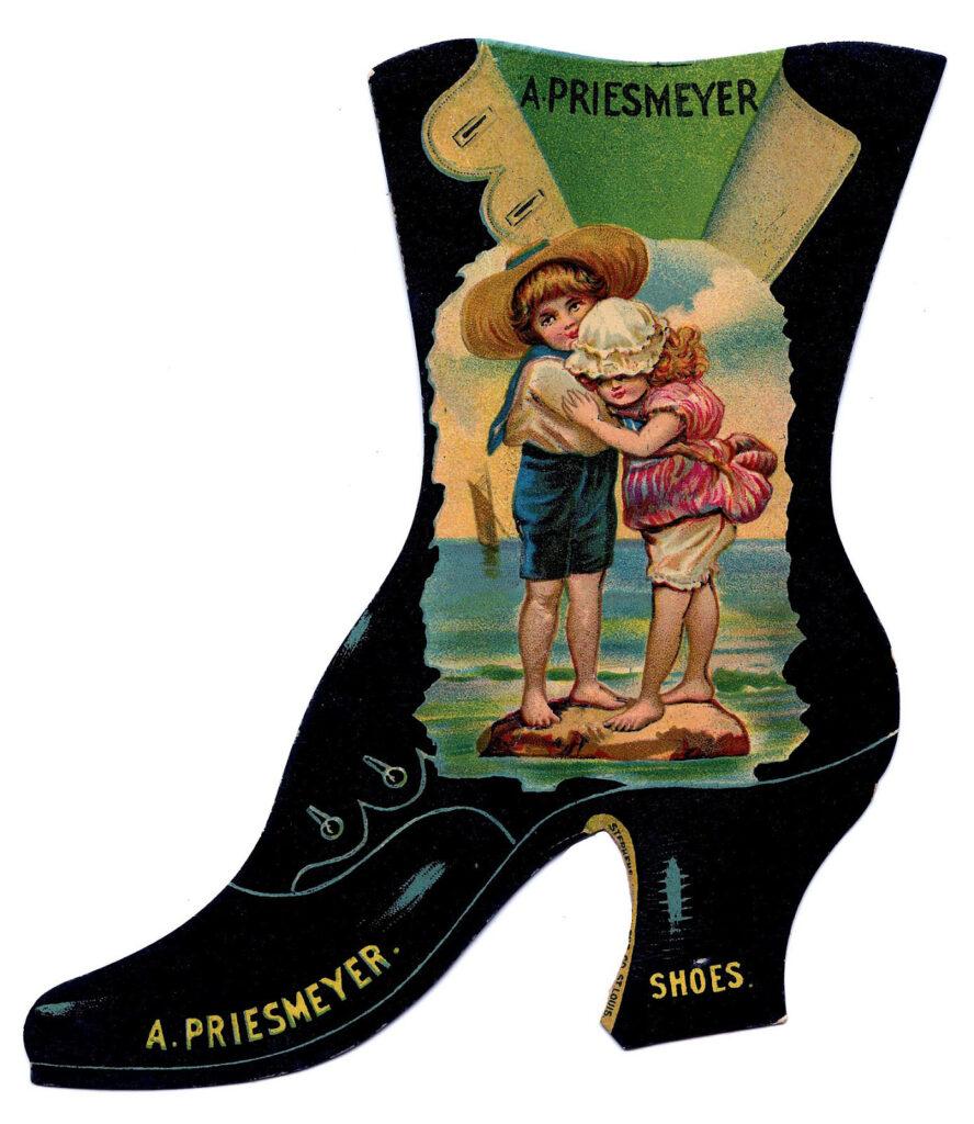 vintage shoe boot advertising image