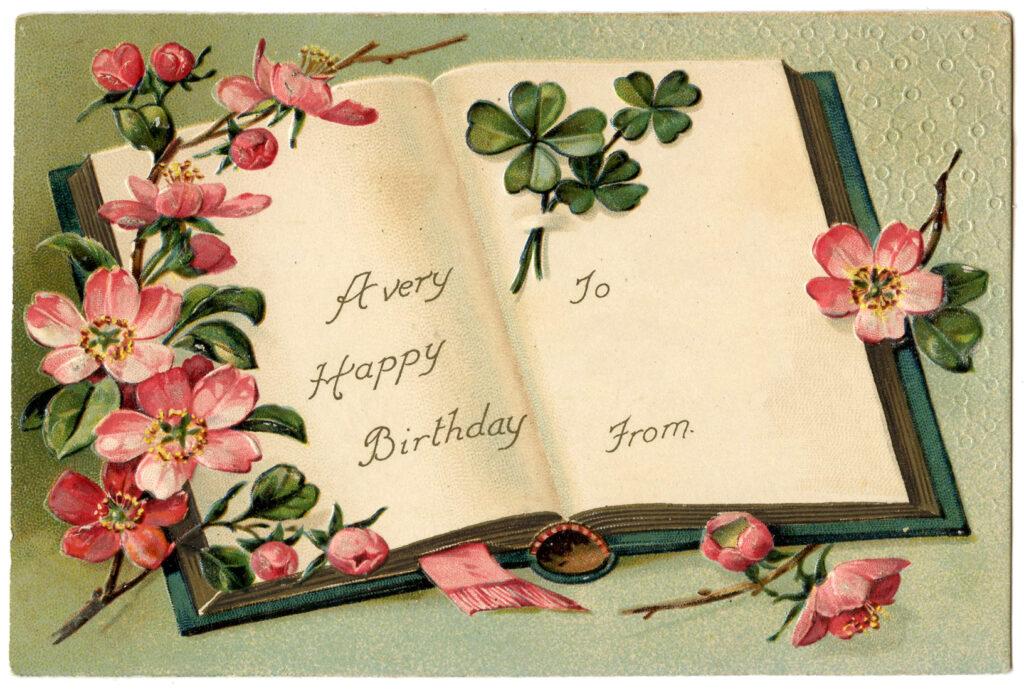 Happy Birthday Floral Book Image