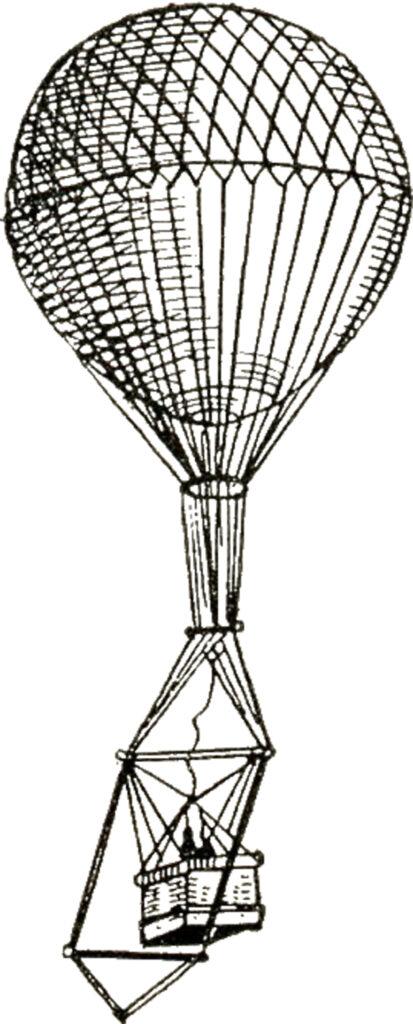 unusual hot air balloon vintage image