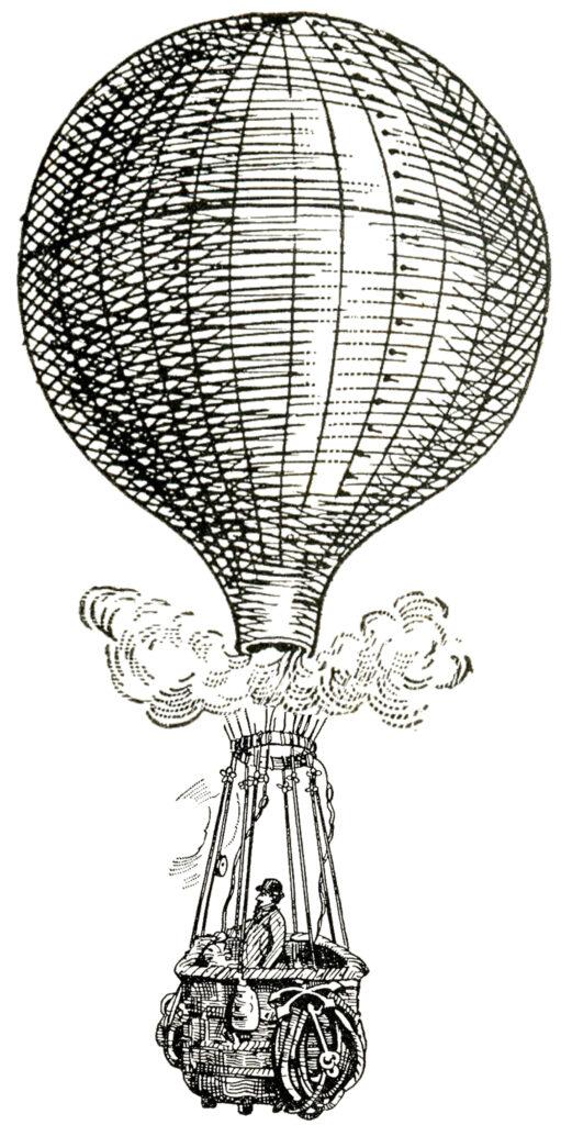 hot air balloon basket image