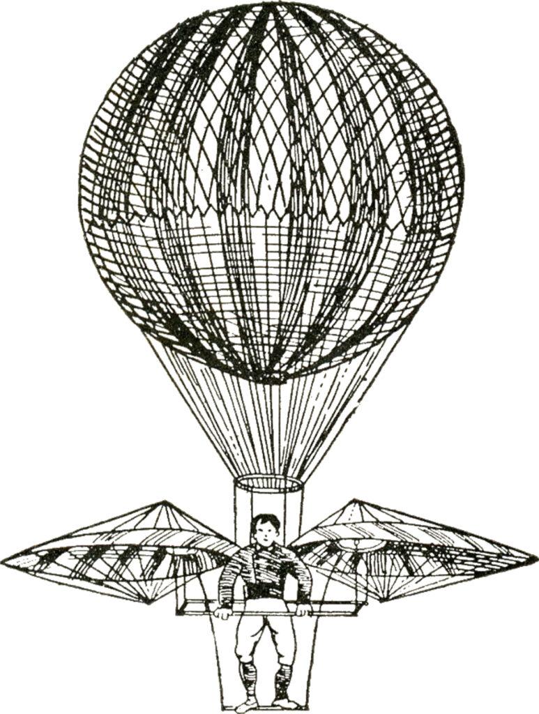 vintage steampunk hot air balloon image