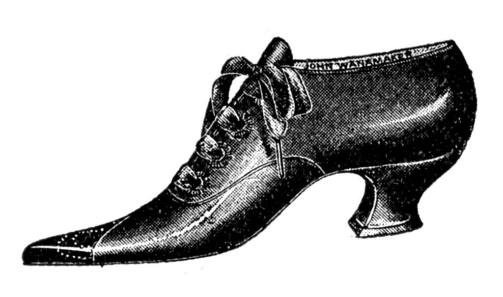 front tie antique shoe image