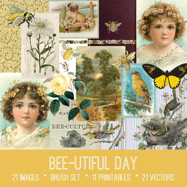 bee-utiful day ephemera vintage images