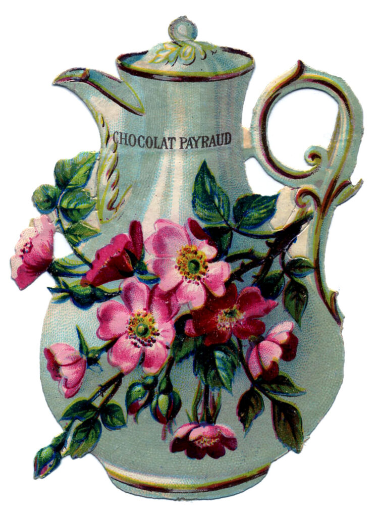 antique chocolate pot image