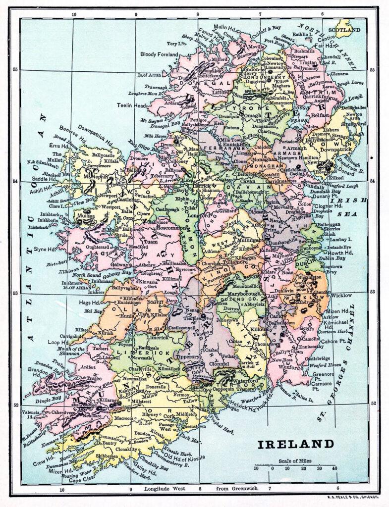 ireland vintage map image