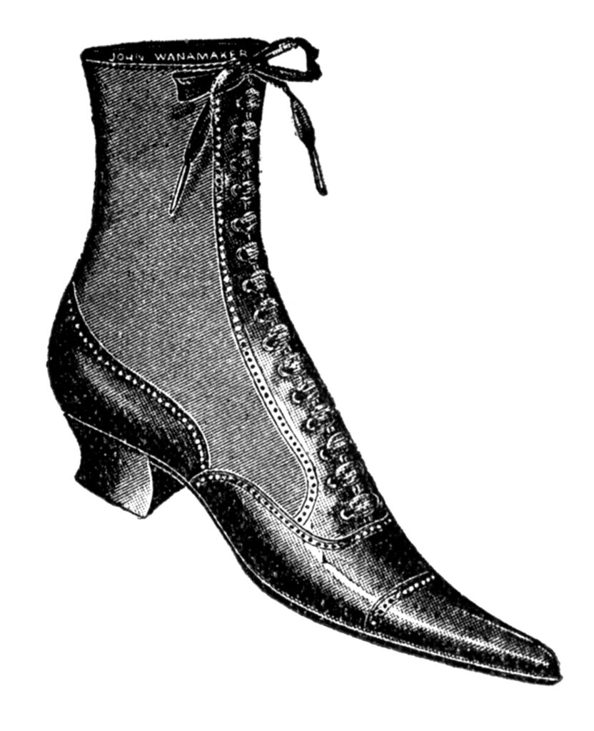 antique lace up boot image