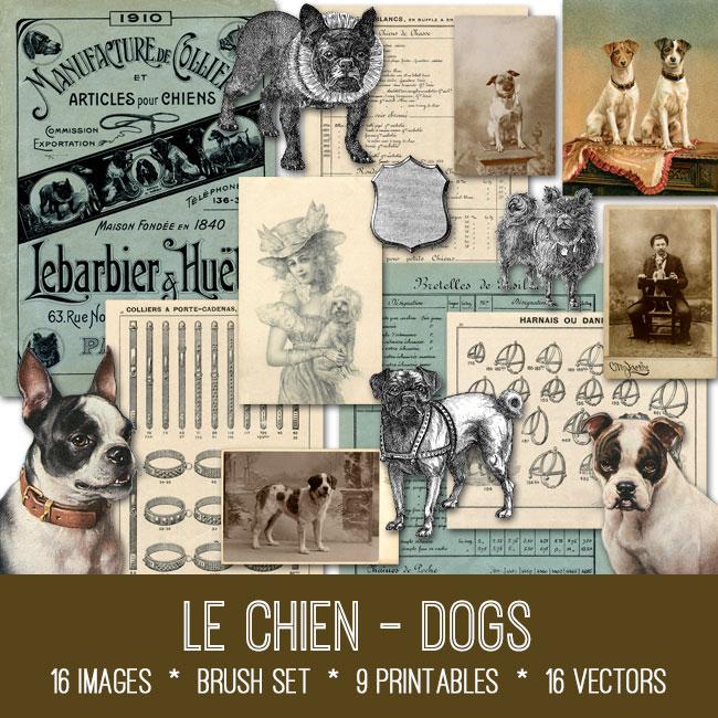 Le Chien Dogs vintage images