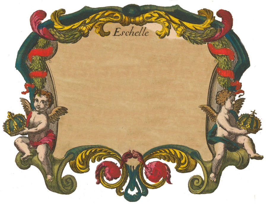 antique map label cherubs clipart