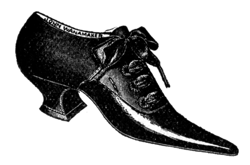 pointy lace up shoe clipart