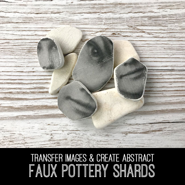 faux pottery shards tutorial
