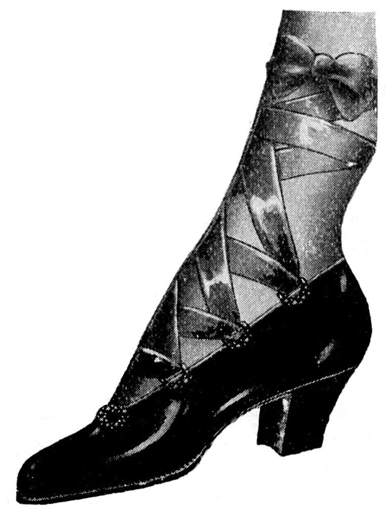 ribbon tie vintage shoe image