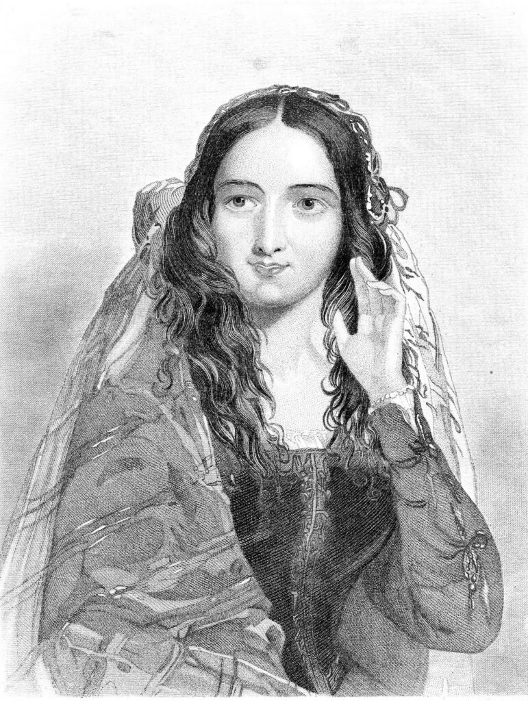 Shakespearean lady shawl image