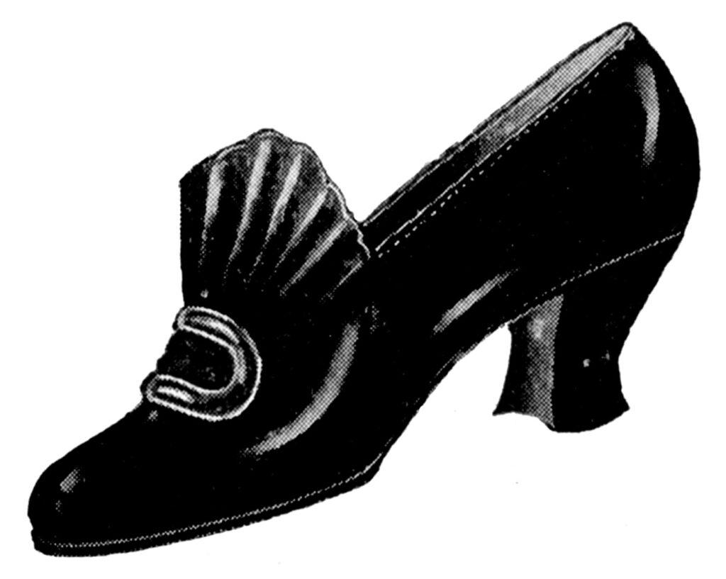 vintage black buckle shoe image