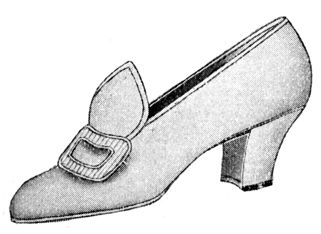 vintage gray pump shoe illustration