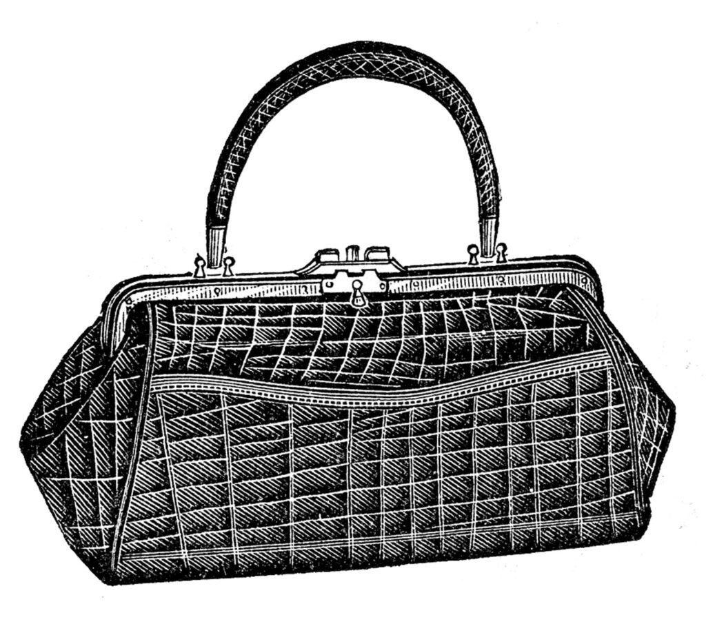 alligator purse illustration