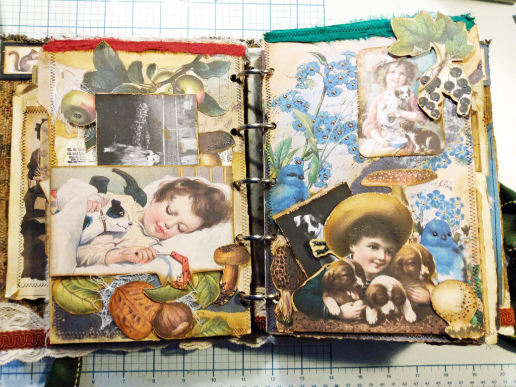 Family Pets Junk Journal Page Dogs