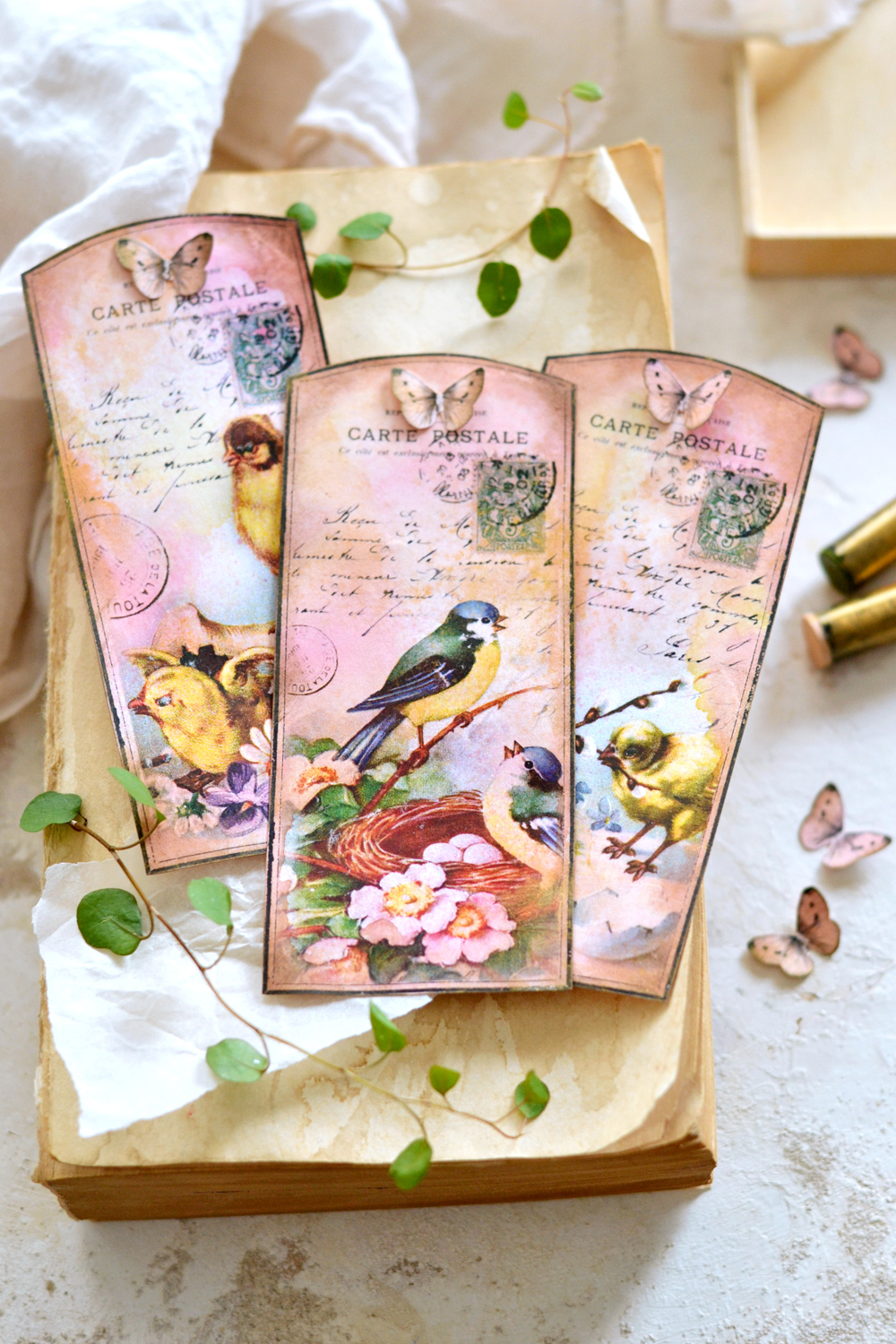 Beautiful Handmade 3D Tags for Spring