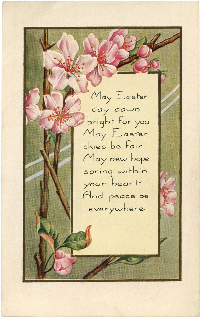 Easter pink blossoms buds clipart