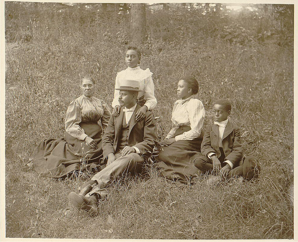 family outdoors photo image