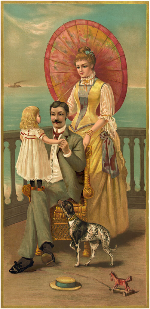 vintage family vacation image