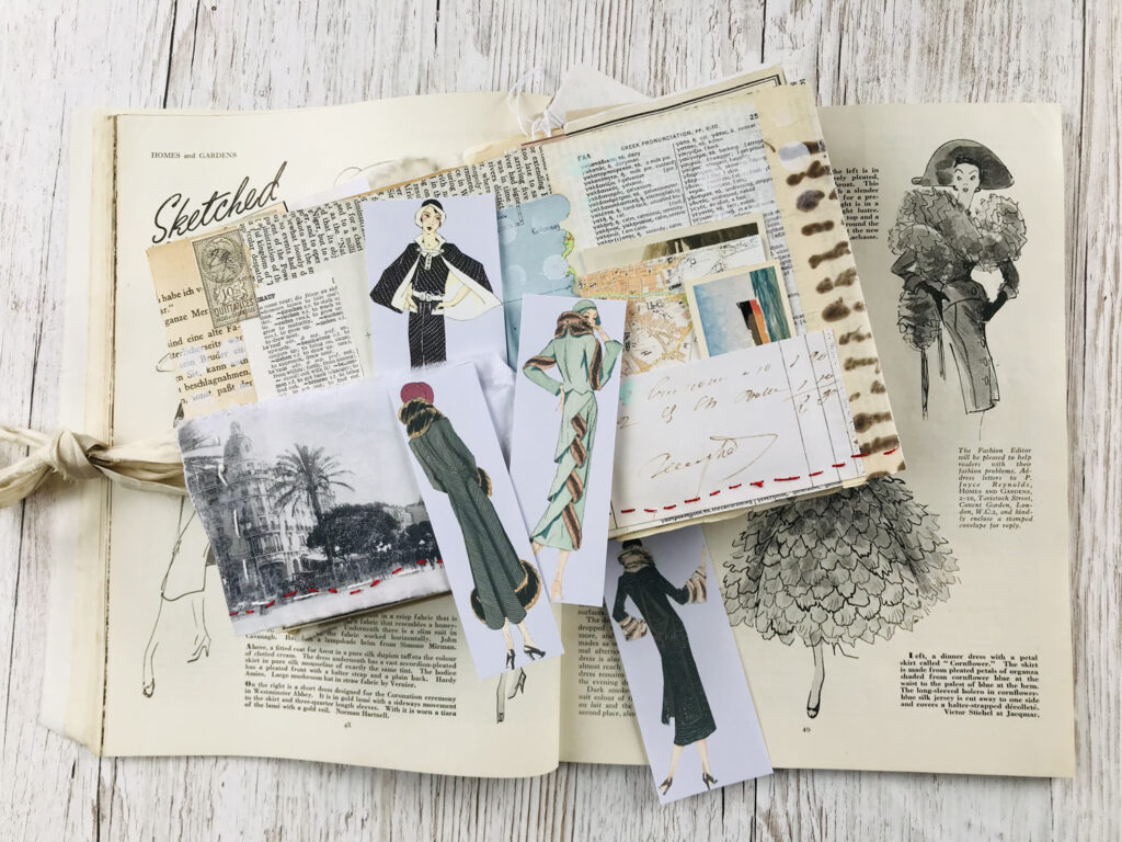fashion ephemera journal page