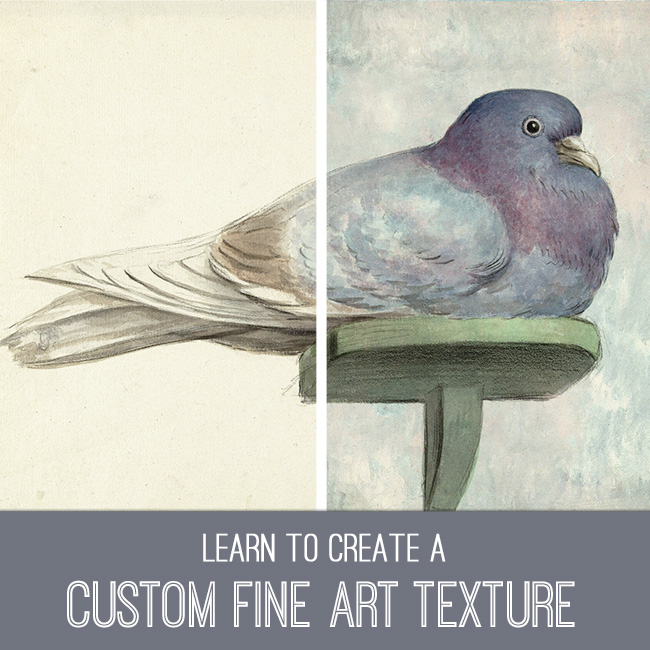 PSE tutorial custom fine art texture