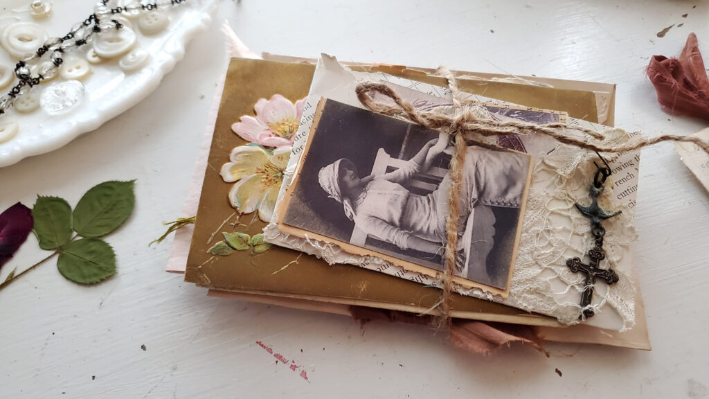 French Atttic Junk Journal back cover