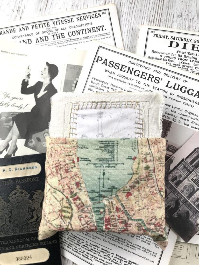 fabric journal pocket