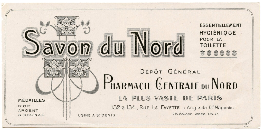Savon du Nord vintage French soap label image