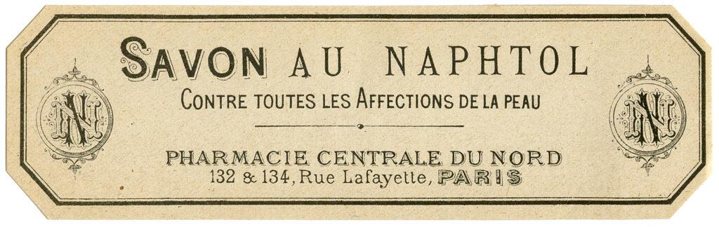 Savon au Naptha French soap label clipart