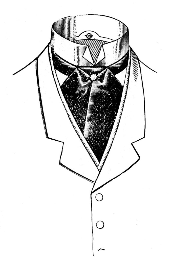 men's ascot clipart