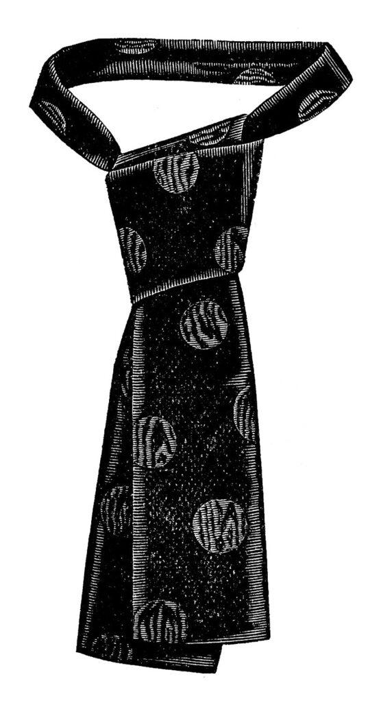 mens vintage tie clipart