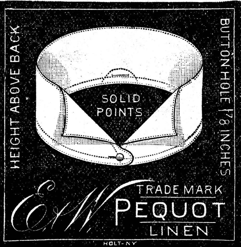 men's vintage collar illustration