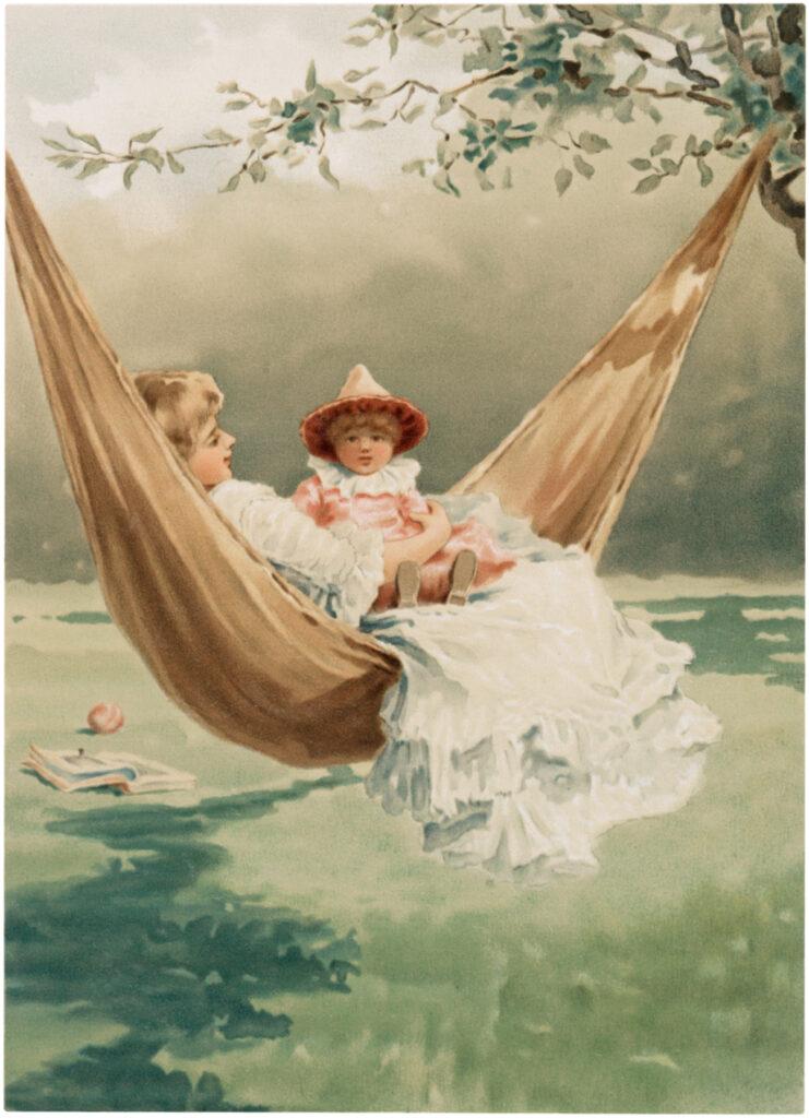mother child hammock image