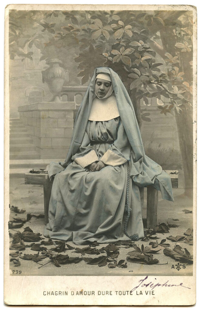 French Nun blue habit photo image