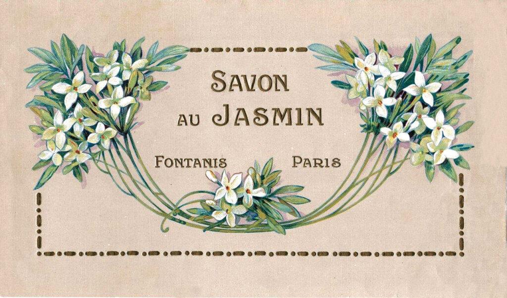 Savon Jasmine Soap Label