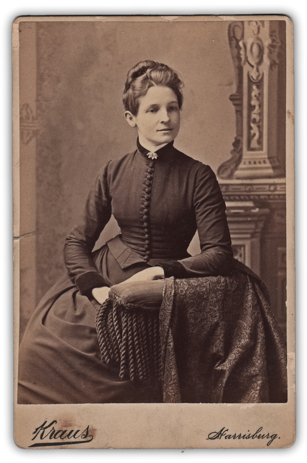 Victorian lady sitting photograph image