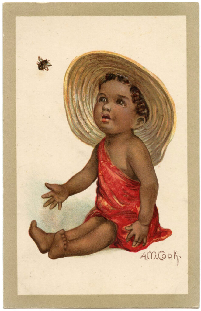 Vintage Baby Image with Bee