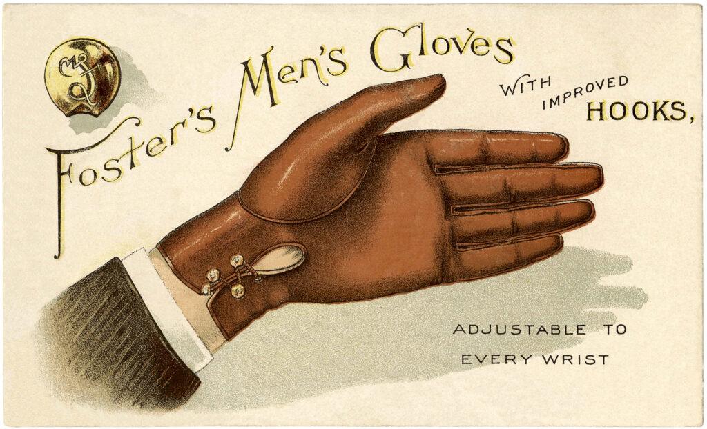 vintage leather men's gloves advertising image