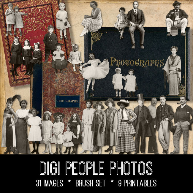 Digi People Photos ephemera vintage images