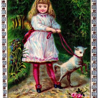 girl lamb Easter image