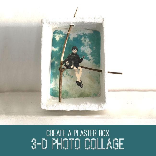 3-D plaster box photo collage tutorial