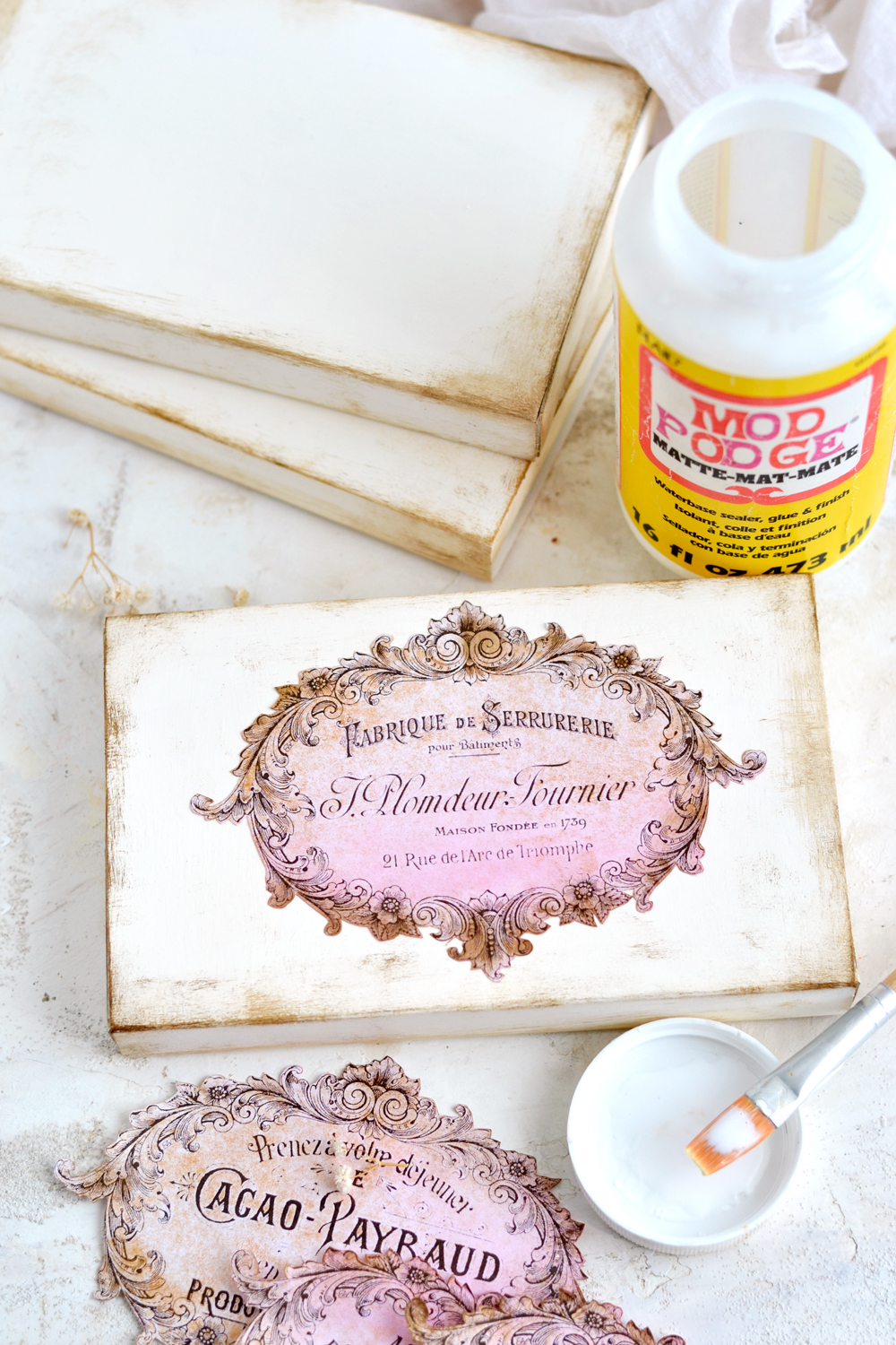 DIY Vintage French Recycled French Boxes