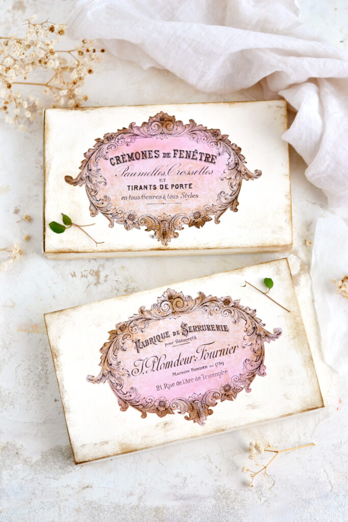 French Recycled Chocolate Boxes