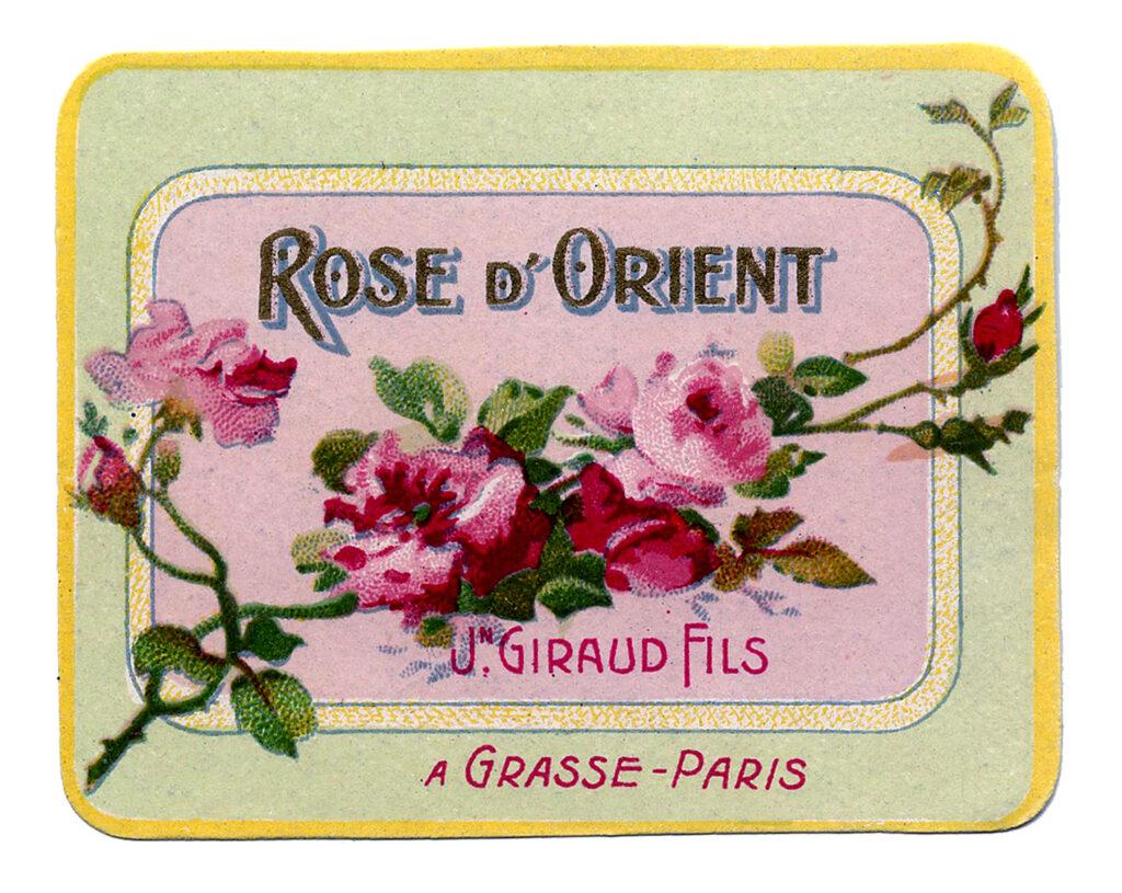 rose d'Orient soap label image