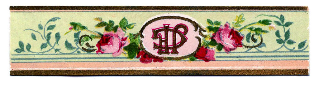 rose perfume label image