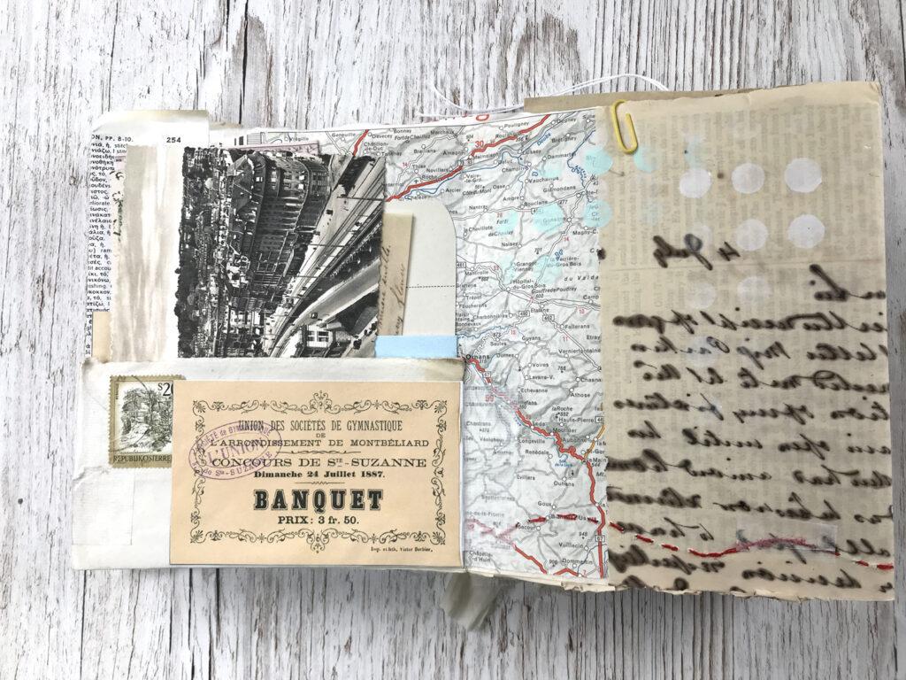 script journal ephemera page