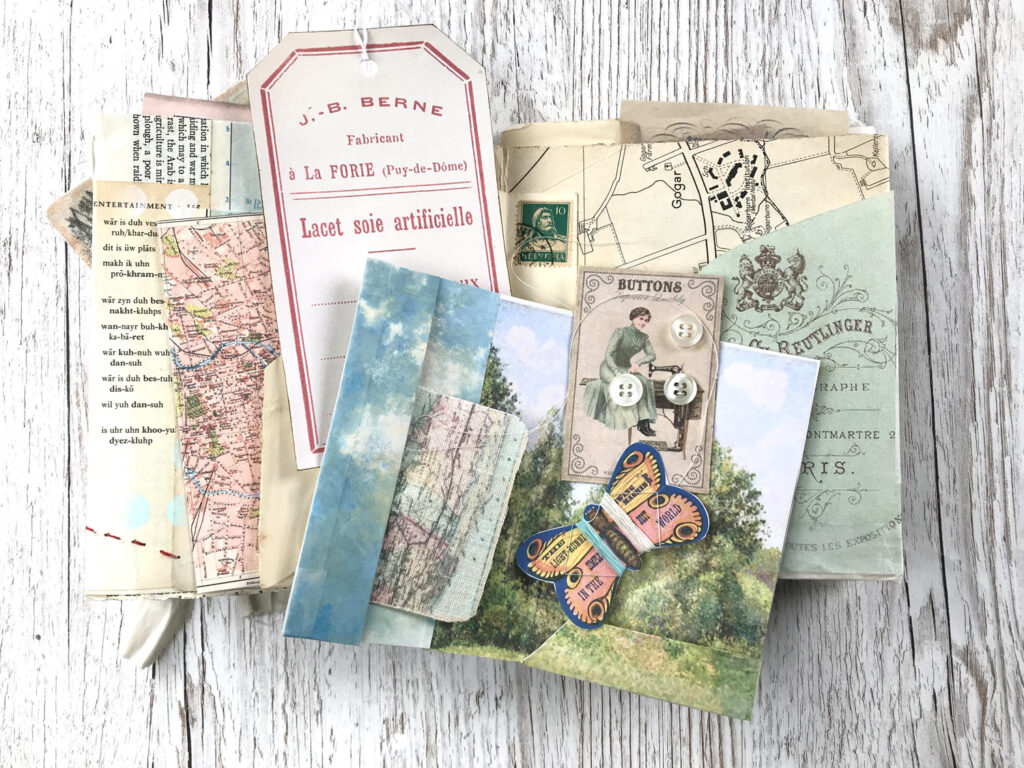 sewing kit journal page