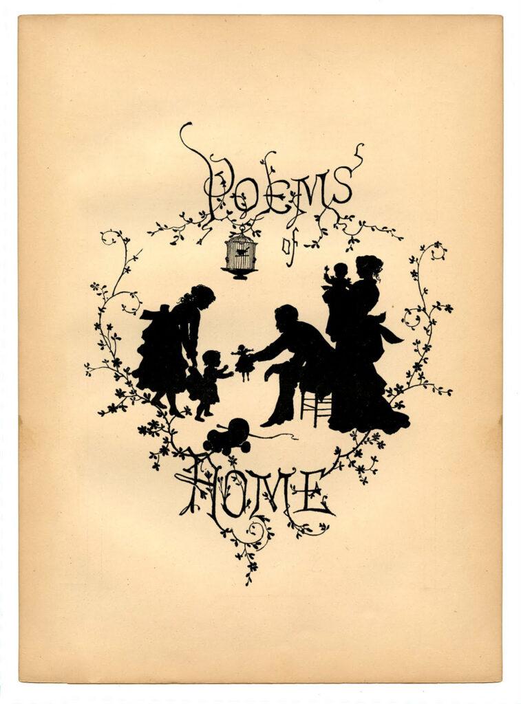 silhouette family illustration